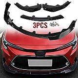Shikha Front Bumper Lip Body Kit Spoiler Splitter 3PCS for Toyota Corolla 2019 2020