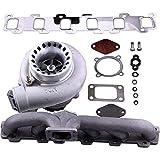 Z.L.FFLZ Turbocompresseur Turbo Manifold + Turbocompresseur for N-i-s-s-a-n Safari Patrol TD42 GQ Y60 GR Essence 4.2L Anti Surge GT35 GT3582 Turbocompresseur Turbo
