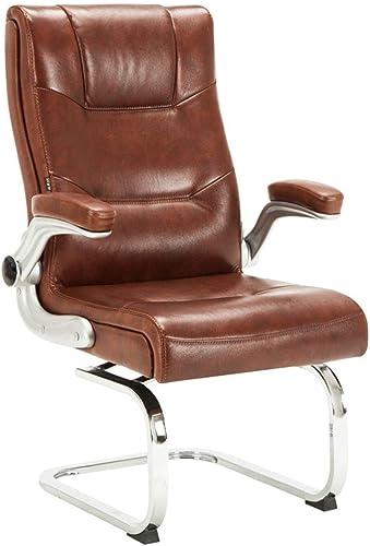 Chaises de bureau Chaise d'ordinateur de conférence Fauteuil tournant (Couleur   marron, Taille   60  67  107cm)