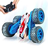 Remote Control Car, REAPP RC Cars for Kids 2.4Ghz Stunt Car with Headlights 360 Degree Rotation 4WD Car Toys Gifts for Boys Girls Age Over 4 Years Old(All Batteries Included) (Blue)