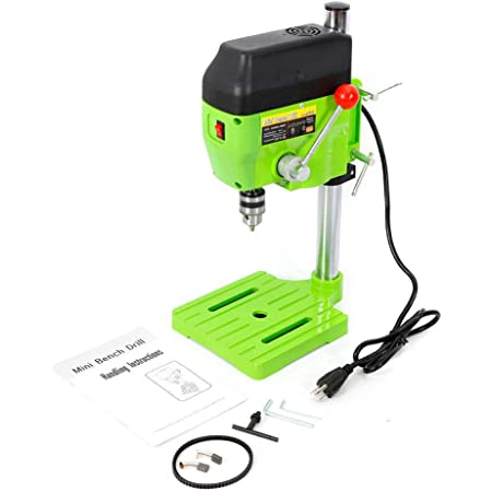 Mini Electric Bench Drill Press Stand Compact Portable Workbench Metal Drilling Repair Tool Expanding Drilling Machine 480W DIY Tool (USA Stock)