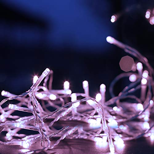 Christmas String Lights 100 LED USB Powered Fairy String Lights with 50 Photo Clip for Hanging Pictures Perfect Dorm Bedroom Wall Decor Wedding Patio Festivals Decorations (White)