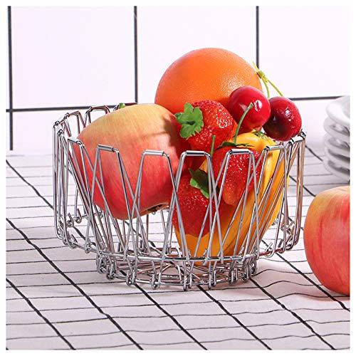 YXYLD Corbeille à Fruits, Grand MéTal DéCoratif, Panier De Rangement pour Bol à Fruits, Panier Pliant Divers pour Comptoir De Cuisine Centre De Table à Manger