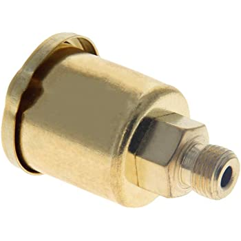 Houseuse Machine Part 10mm Male Thread Spring Cap Grease Oil Cup Gold Tone