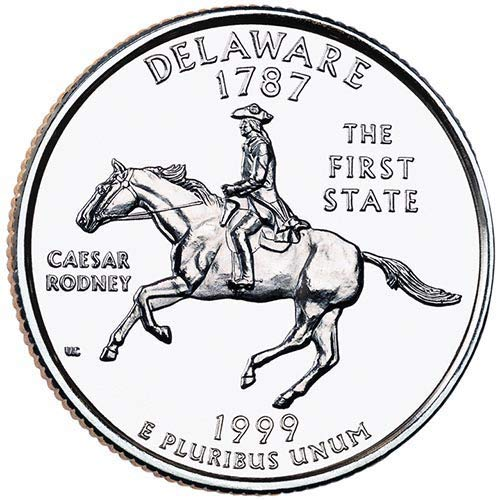 1999 P BU Deleware State Quarter Choice Uncirculated US Mint