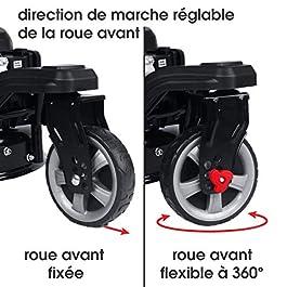 BRAST tondeuse thermique 3 roues TRIKE 196cc 6cv 53cm propulsée arrière de la marque française GT, capot en tôle en acier, réglage central, autotractée