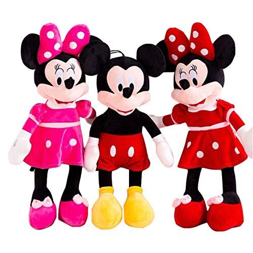 aolongwl Plüschtier 3 Stück / Schöne Mickey & Minnie Maus Plüschtiere Gefüllte Maus Cartoon Figur Puppen...
