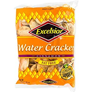 Excelsior Cinnamon Water Crackers, 10.57 oz (Pack of 10) Fat Free, Genuine Jamaican Crackers, Breakfast Cereal & Healthy Snack.