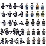 Forweilai 42 pièces Figurine pour Enfants - SWAT Figurine Compatible avec à la Plupart de Marques de Figurine