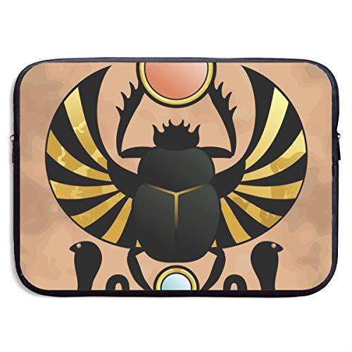 Ancient Egypt Beetle Laptop Sleeve Shoulder Bag, Protective Carrying Case 15 Inch Slim Sleeve