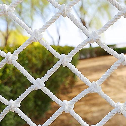 Amacthysh Kletternetz, Kletternetz für Kinder, Frachtnetz, Geeignet für Bausicherheitsschutz, Balkone, Treppen, Sicherheit, Dekoration, Gartengitter, Kletternetz für Baumhaus, weiß,1 * 2m/3.3 * 6.6ft