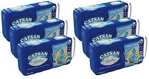 Catsan Smart Pack Katzenstreu Streu Nicht klumpend, 6 Packung mit 12 Packs 48L