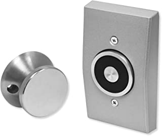 Seco-Larm DH-171SQ Flush-Mount Magnetic Door Holder; Holding Force 33-lb (15kg); for Use with Door Closers to Control The Release and Closing of Residential, Commercial and Public Area Doors