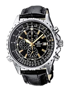 Casio Men's Edifice Analogue Quartz Watch with Leather Strap EF-527L-1AVEF (B001TK3CIC) | Amazon price tracker / tracking, Amazon price history charts, Amazon price watches, Amazon price drop alerts