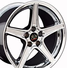 OE Wheels 18 Inch Fits Ford Mustang 1994-2004 Saleen Style FR06B Chrome 18x9 Rim