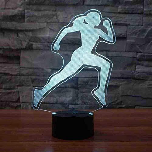 Festival Run Modelling Night Light Led 7 Colors Vision Female Runner Table Lamp Usb Sleep Light Fixture Home Decor Gifts