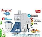 Preethi MG214 Blue Leaf Expert Mixer Grinder, 750W, 3 jars with Master Chef Jar