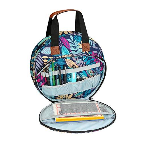 Aceshop Bolsa de kit de Bordado Portátil para Proyectos de Punto de Cruz Bolsa Artesanal con Cremallera y Bolsillos para Aros de Bordado, Suministros de Punto de Cruz y Kits de Herramientas de Costura