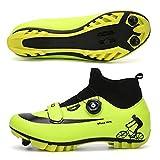 WPW Zapatillas de Ciclismo MTB para Hombre, Zapatillas con Suela de Carbono para Bicicleta de Carretera Profesional para Mujer, Zapatillas de Ciclismo con Tacos