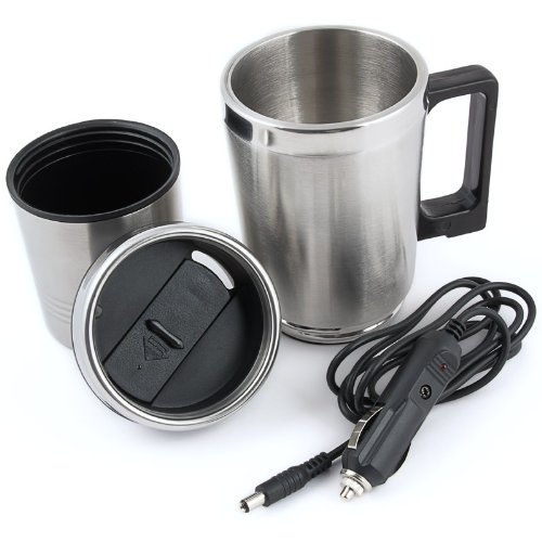 Bicchiere termico elettrico 0.35l tazza di caffè collegabile alla presa accendisigari auto viaggi