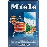 Nostalgic-Art Retro Tin Sign – Miele – Waschbottich – Gift idea for Fans of Nostalgia, Metal Plaque, Vintage Design for Wall Decoration, 20 x 30 cm