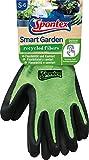 Spontex Smart Garden Gartenhandschuhe, Touchscreen kompatibel, aus recycelten PET-Flaschen, mit Nitrilbeschichtung, Größe S, 1 Paar