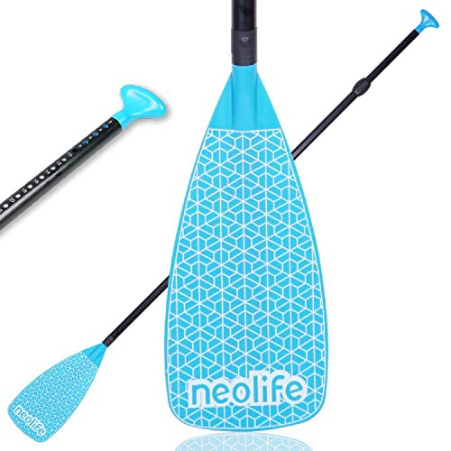 XUXIAKE SUP Paddles con asta in fibra di carbonio e lama in nylon, oars, regolabile 180-219 cm, blu