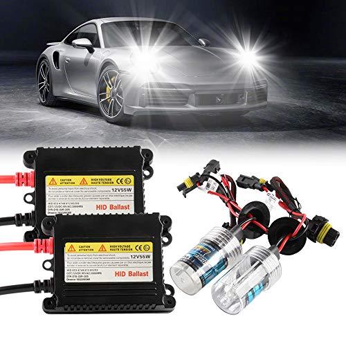 Chemini 55W H7 6000K HID Kit de Conversion xénon Xénon Blanc Kit de feux de route feux de croisement Super Bright-1 set-Garantie un an