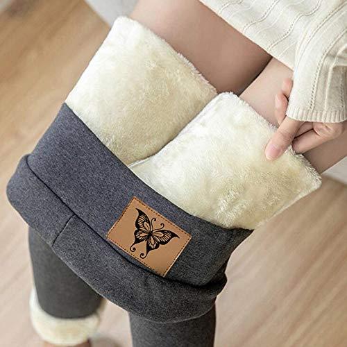 jessboyy Leggings Térmicos Pantalones Mujer Invierno, Leggings de Cintura Alta para Mujer, Elásticos Forrado de Terciopelo Grueso Calientes Bragas Calientes Leggins Termicos Mujer