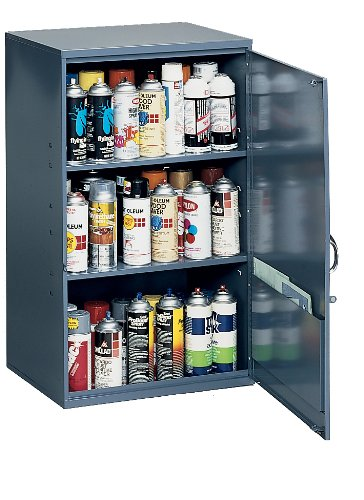 Durham 05695 Gray Cold Rolled Steel Utility Cabinet 197/8quot Width x 323/4quot Height x 141/4quot Depth 2 Shelves