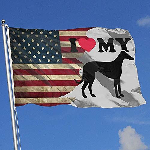 Elaine-Shop Banderas al Aire Libre Bandera de EE. UU. Amo a mi Galgo Italiano Bandera de 4 * 6 pies para decoración del hogar Fanático de los Deportes Fútbol Baloncesto Béisbol Hockey