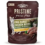 Castor & Pollux Pristine Grain Free Free-Range Chicken Recipe Morsels in Gravy Cat Food Pouches, (24) 3oz cans