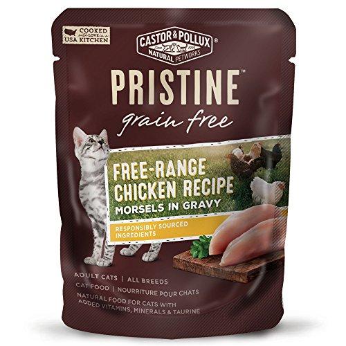 Castor & Pollux Pristine Free-Range Chicken Recipe Morsels In Gravy Wet Cat Food 3 Oz, 24 Count Case