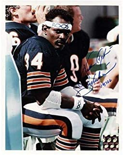 Walter Payton Autographed Signed Auto Chicago Bears Bench Shot 8x10 Photograph Sweetness, 16,726 - Certified Authentic