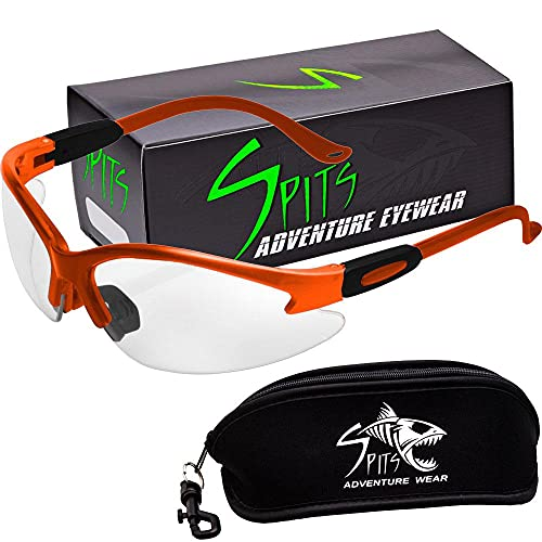 Cougar Safety Glasses (Frame Color: Orange, Lens Color: Photochromatic Clear/Smoke)