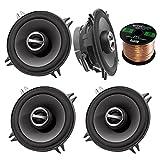 2 Pairs of Alpine SPS-510 5.25' 2-Way Car Coaxial Audio Speakers Bundle with Enrock 50 Feet Speaker Wire