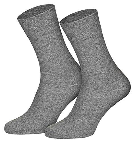 4511/6 Paar Damen Komfort Socken ohne Gummi hellgrau, 35-38