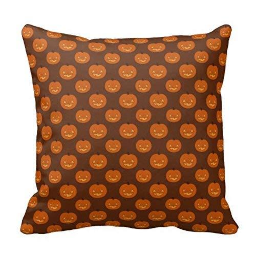 Nvfshreu Halloween Jack O Lantern Coussin Simplicité Mode Confortable Chic Usage Simple Style Quotidien (Color : Colour, Size : Size)