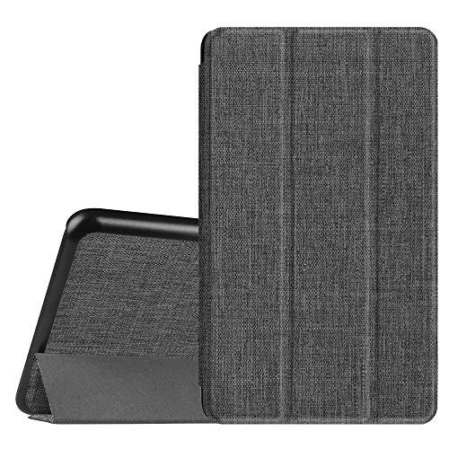 Fintie Hülle für Samsung Galaxy Tab A 7.0 Zoll SM-T280 / SM-T285 Tablet (2016 Version) - Ultra Schlank Superleicht Ständer Slim Shell Case Cover Schutzhülle Etui Tasche, (Stoff dunkelgrau)