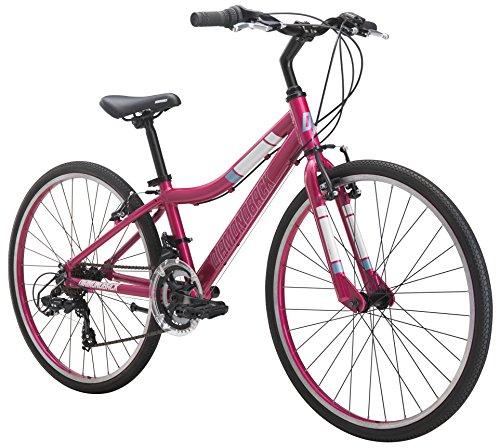 "Diamondback Bicycles Clarity 24 Girl's Youth Fitness Hybrid 24"" Wheel, Pink"