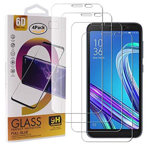 Guran 4 Pezzi Pellicola Protettiva in Vetro Temperato per ASUS Zenfone Live (L1) ZA550KL Smartphone 9H Durezza Anti-Impronte HD Alta Trasparenza Pellicola