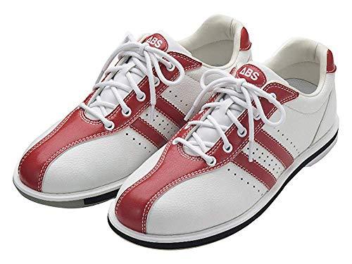 ABS S-380 ホワイト・レッド ボウリング シューズ ボウリング用品 ボーリング グッズ 靴 (23.5, 右)