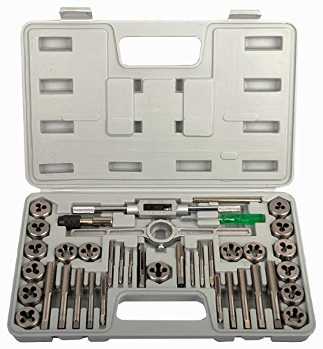 KECHUANG 40-Pieces Tap and Die Set SAE Standard Internal and External Threaded Tool Set