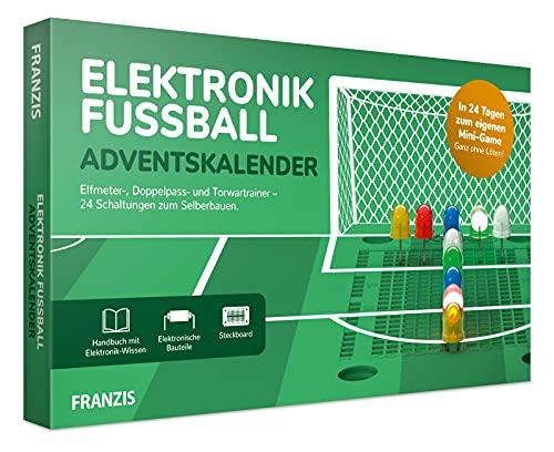 FRANZIS 67333 - Elektronik Fussball Adventskalender 2021, in 24 Tagen zum eigenen Mini-Fußballspiel, ohne Löten, auch für Elektronik-Anfänger geeignet, für Kinder ab 14 Jahren