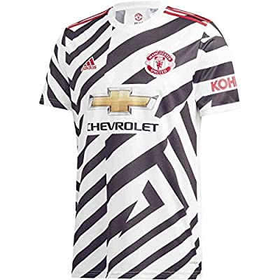 Adidas Mens Manchester United 3Rd Soccer Jersey White/Black L