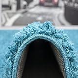 VIMODA Prime Shaggy Teppich Farbe Türkis Hochflor Langflor Teppiche Modern, Maße:160x220 cm - 6