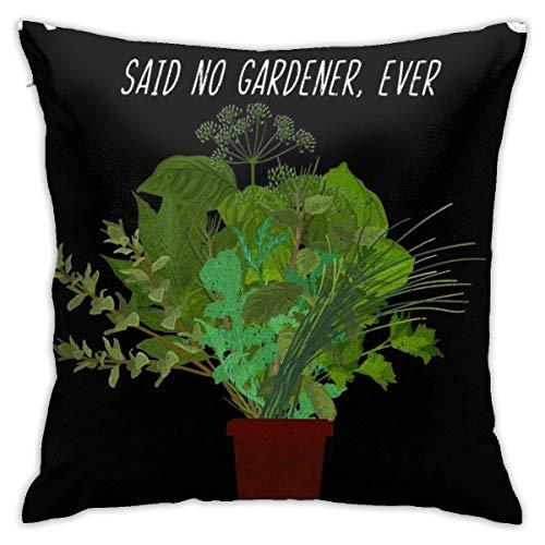 N / A Gardeners Spring Gardening Product For Herb Planting Lovers, Pillowslip With Zipper Customize Gifts Standard Size Pillow Covers Throw Pillow Cases Decorative Couch Sofa Cushion Cover