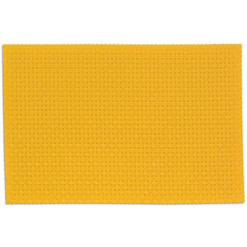 kela Set de Table Plato 45x30cm en PVC Plastique/Polyester Jaune, 45x30x1 cm