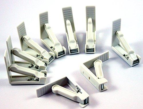 Fixe-nappe Blanc en plastique fixation de table clip de nappes - 50 pièce