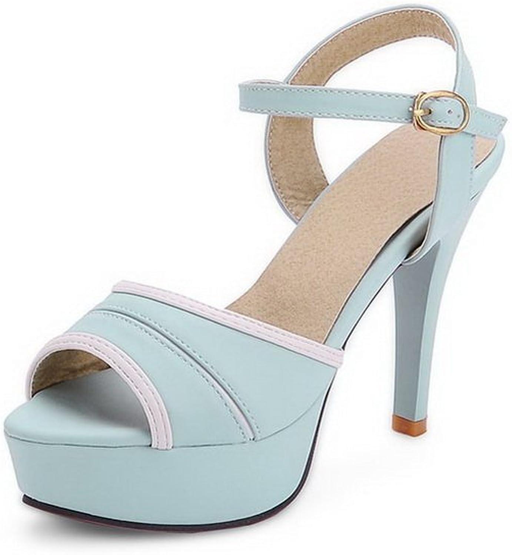 AdeeSu Womens Two-Toned Spikes Stilettos Platform Urethane Heeled Sandals SLC03591